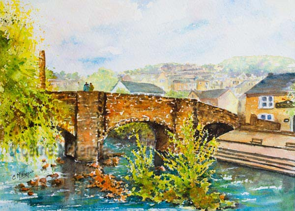 Bridge, Hebden Bridge painting watercolour