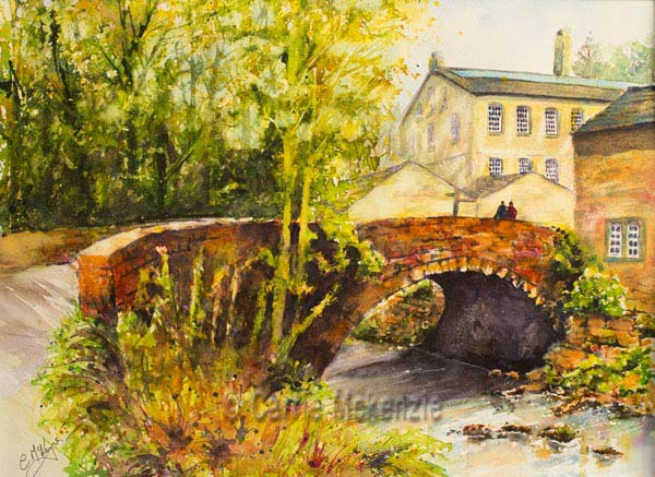 Gibson Mill painting Art Tuition Art Workshops