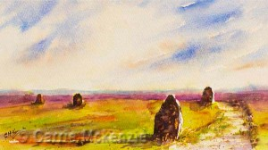 yorkshire paintings, art, watercolour, ilkley