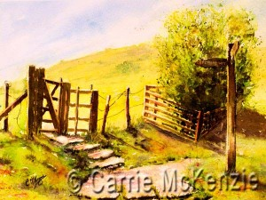 The Pennine Way, yorkshire paintings, art, watercolour