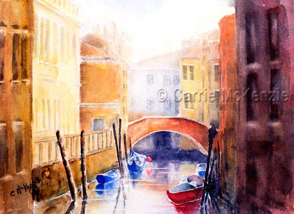 venice watercolour, venice painting, art, watercolour, italy, venice canal
