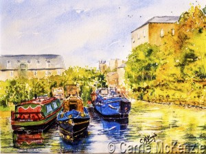 watercolour canal sowerby bridge