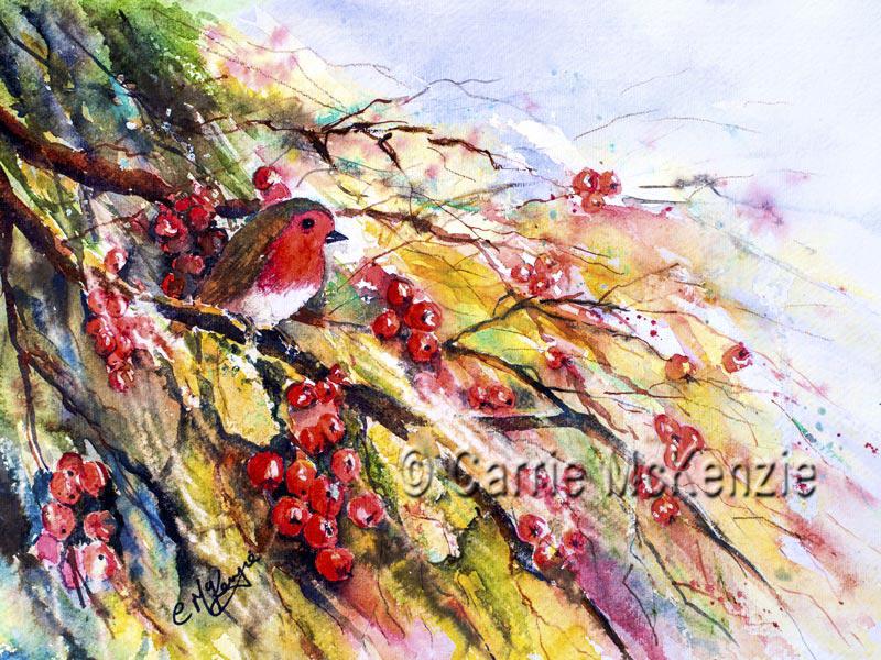 Robin Painting, Robin Redbreast, Art