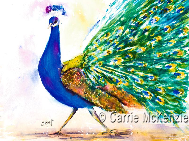 PEACOCK PAINTING, ART
