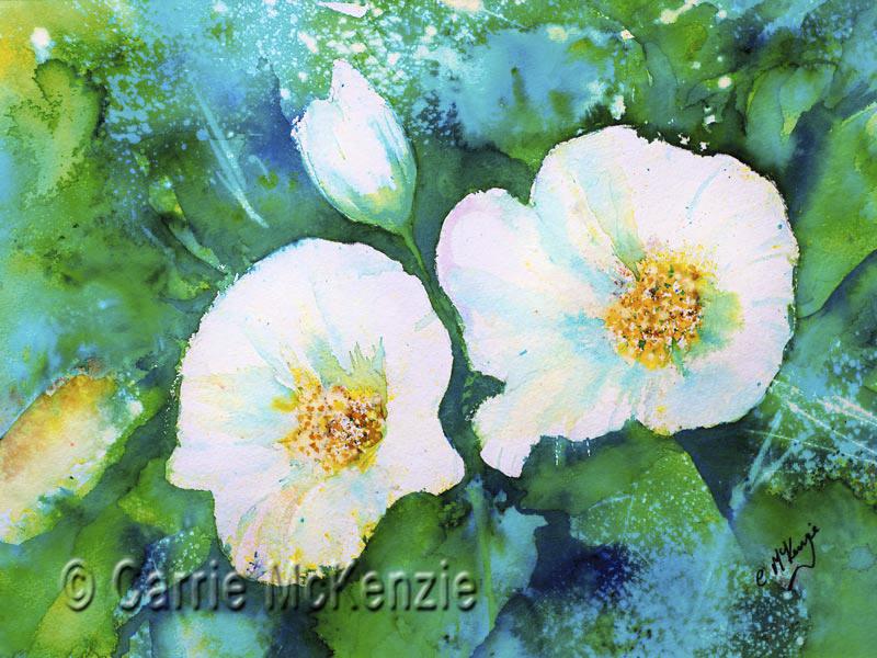 white flower painting, flowers, art, flower painting