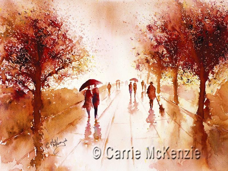 PEOPLE, RAIN, COUPLE, LOVE, ROMANCE, ROMANTIC, TREES, WALKING