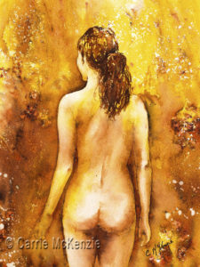 NUDE PAINTING, NUDE WOMAN PAINTING, NUDE GIRL PAINTING, NUDE, NUDE ART