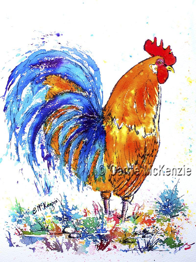 cockerel art, hen art, rooster art, cockerel painting, hen painting, rooster painting, cockerel, hen, rooster