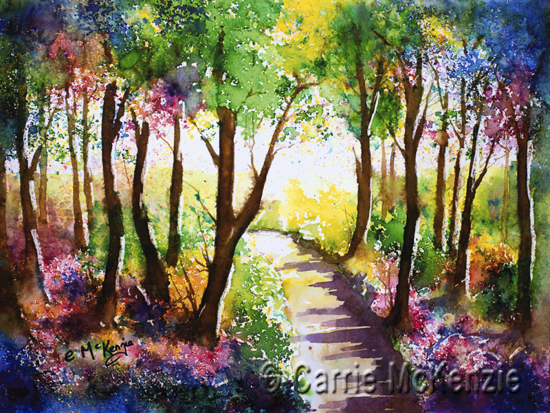 trees painting, trees art, woodland painting, woodland, wood painting, woodland art, nature,