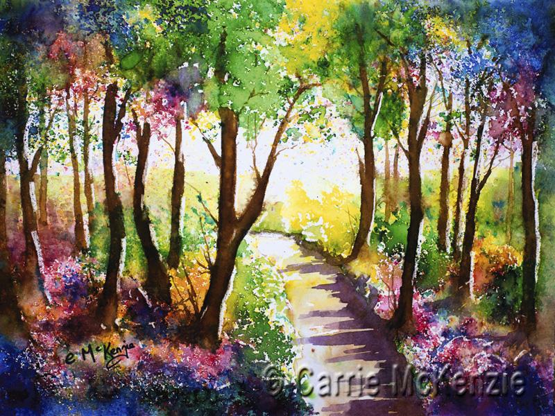 trees painting, trees art, woodland painting, woodland, wood painting, woodland art, nature,