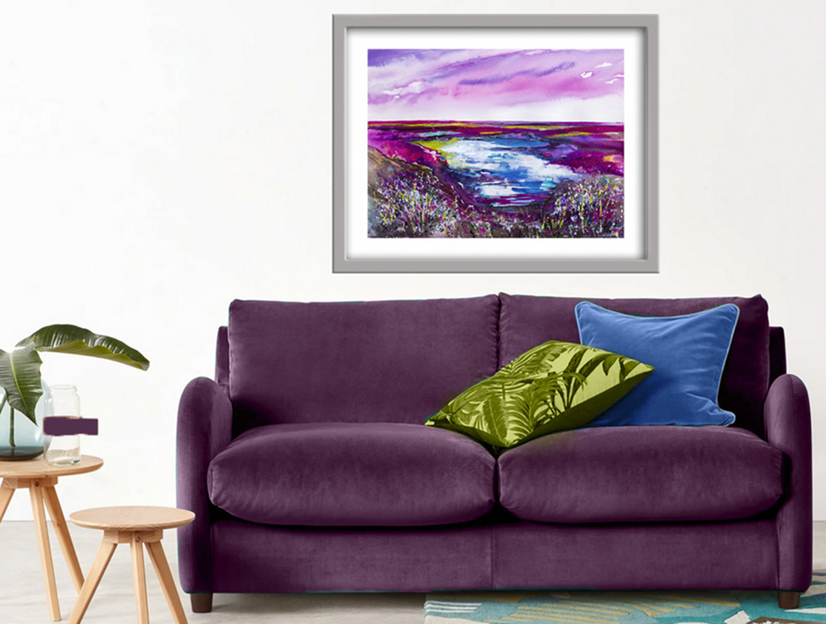 abstract, abstract art, abstract painting, abstract landscape, pink, nature, wildlife, countryside, impressionist, impressionist art,