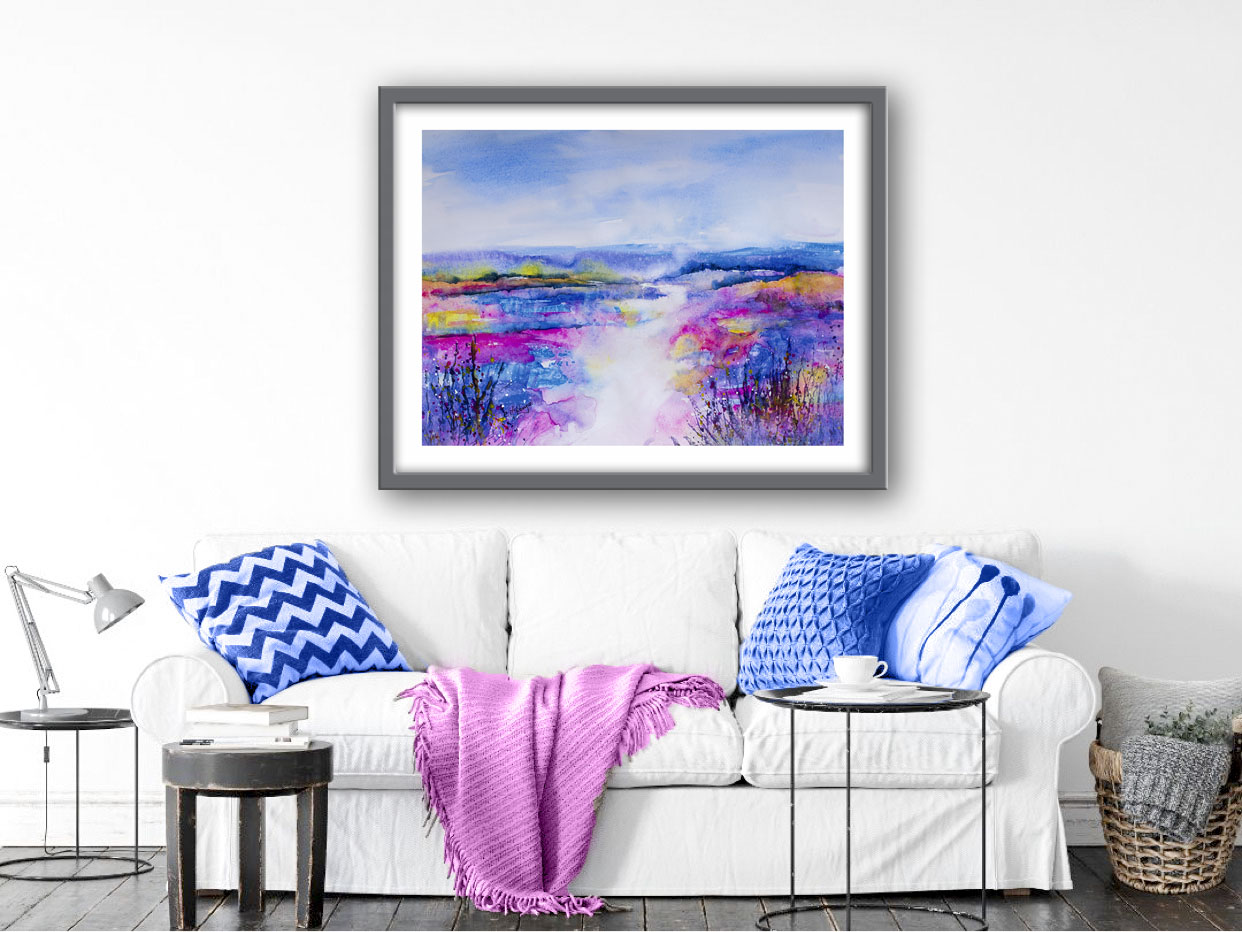 abstract, abstract art, abstract painting, landscape abstract, abstract landscape, pink, nature, wildlife, countryside, impressionist, impressionist art,