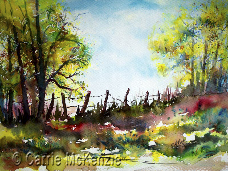woodland, countryside, woodland painting, trees, trees painting, countryside painting, landscape