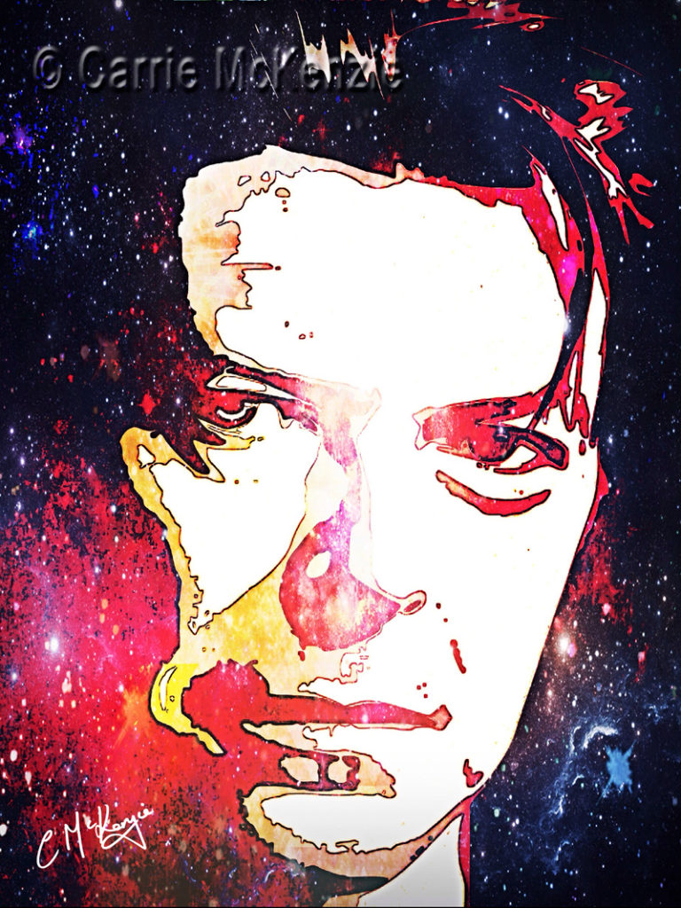 david bowie, musician, music, music legend, legend, pop star, pop music, digital art