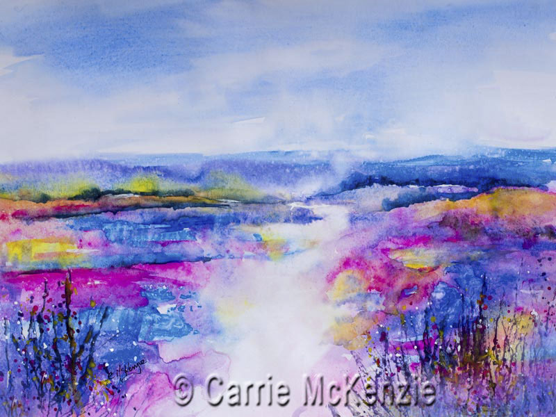 abstract, abstract art, landscape abstract, abstract painting, abstract landscape, pink, nature, wildlife, countryside, impressionist, impressionist art,