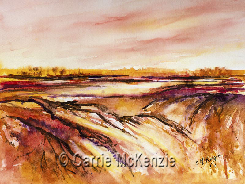 abstract, abstract art, abstract painting, abstract landscape, pink, nature, wildlife, countryside, impressionist, impressionist art, impressionist landscape