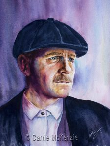 ARTHUR SHELBY, peaky blinder, portrait, arthur shelby art, arthur shelby painting, peaky blinder art, peaky blinder painting