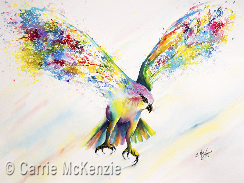 osprey, osprey flying, osprey painting, osprey art, bird, bird painting, brusho, bird brusho, osprey brusho, nature, wildlife