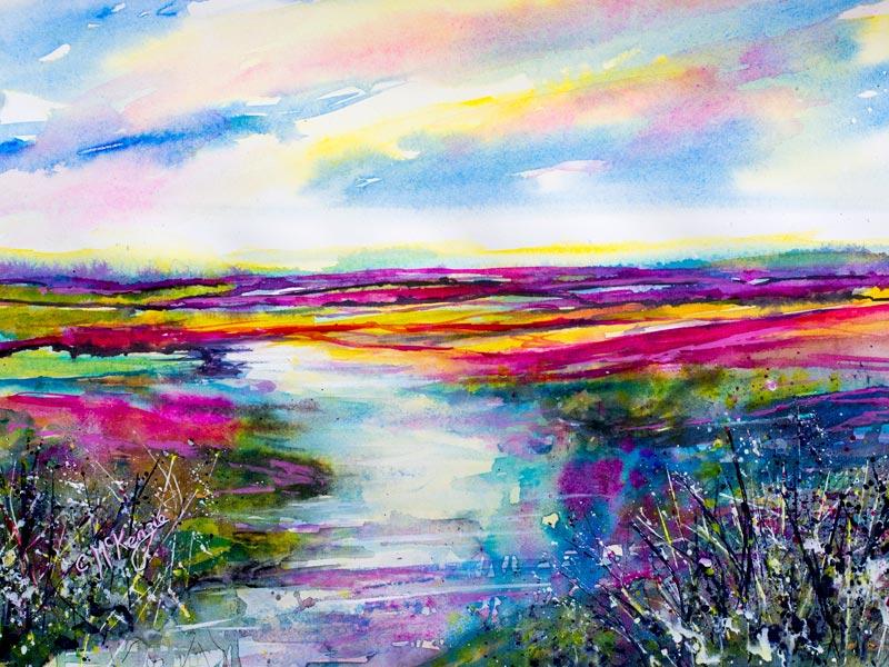 abstract, abstract art, abstract painting, abstract landscape, pink, nature, wildlife, countryside, impressionist, abstract landscape painting, impressionist art,