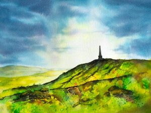 stoodley pike, countryside, yorkshire