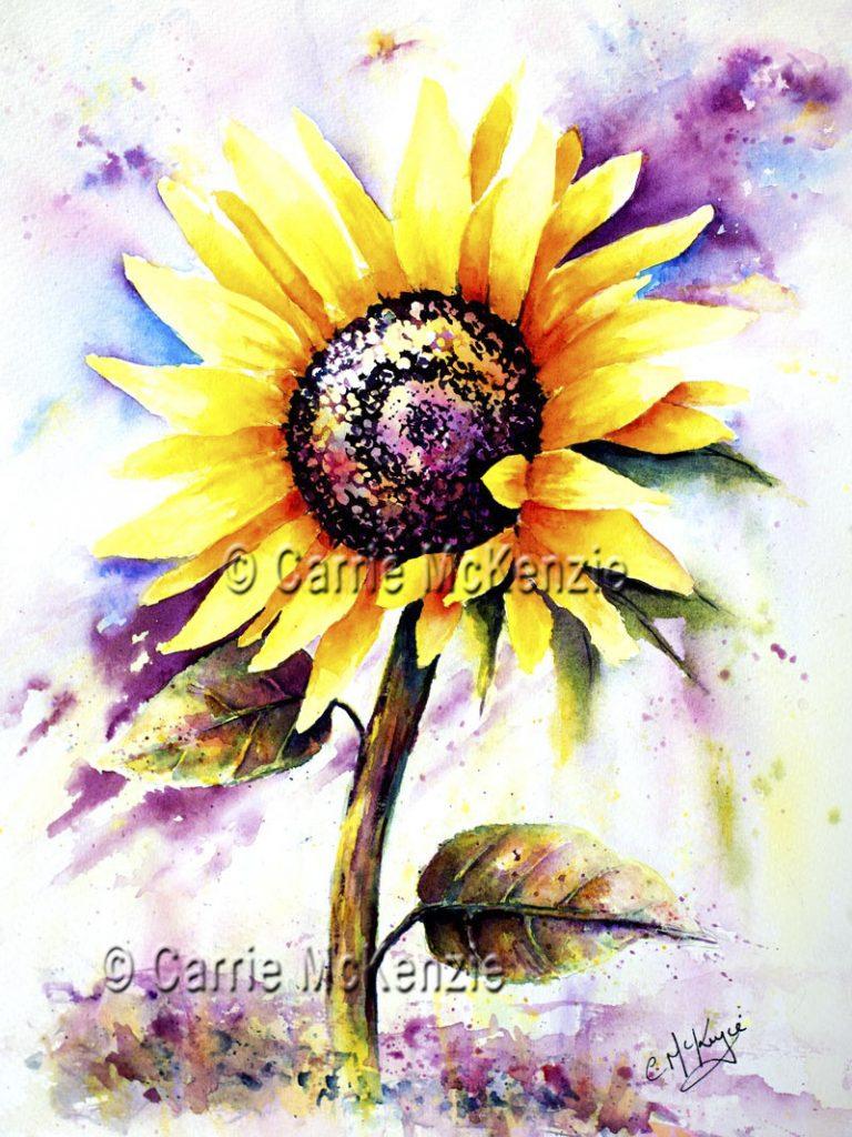 sunflower, sunflower painting, sunflower art, flower, nature, garden, plant