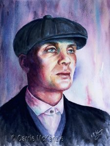 THOMAS SHELBY, peaky blinder, portrait, thomas shelby art, thomas shelby painting, peaky blinder art, peaky blinder painting