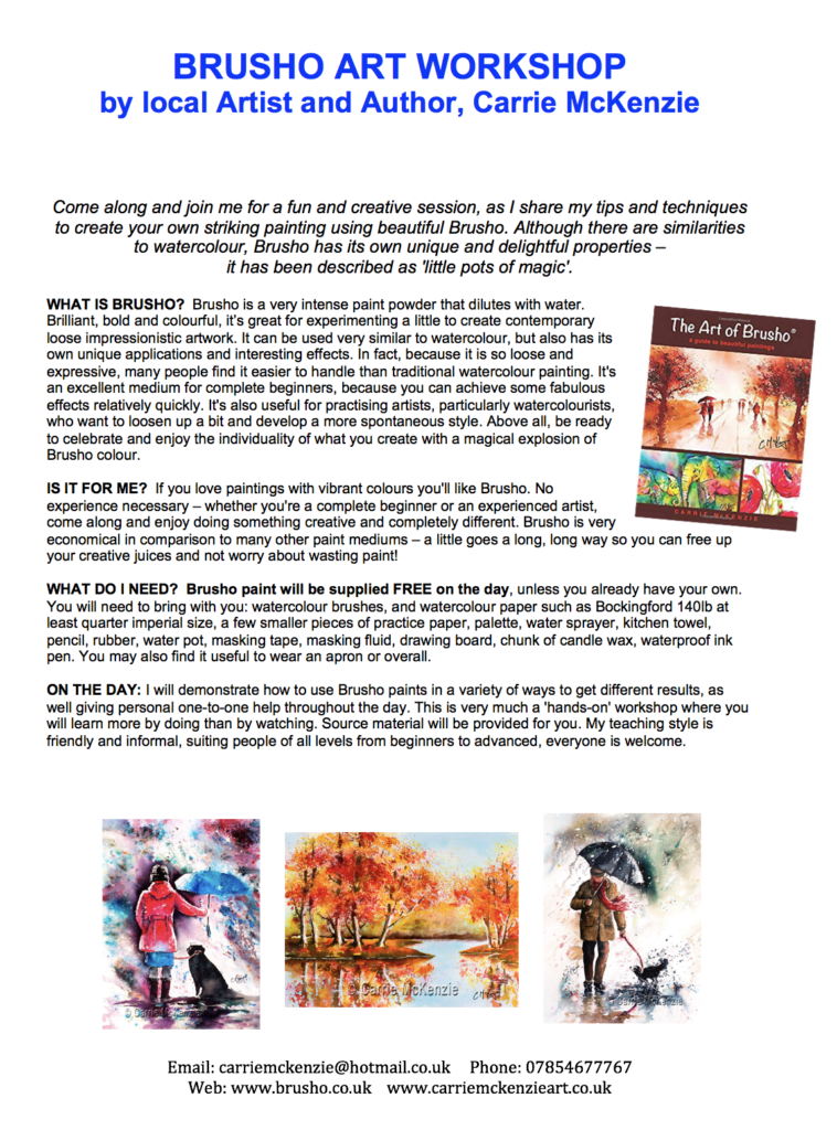 art classes, art workshops, painting classes, brusho classes, brusho workshops, painting workshops, tuition, artist halifax, painting workshops