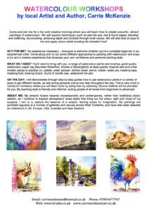 art workshops, art classes, watercolour workshops, watercolour classes, brusho workshops, brusho classes, art demonstrations, art demos, art societies, art society