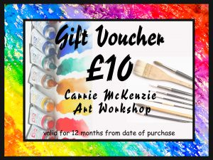 ART WORKSHOP GIFT VOUCHERS